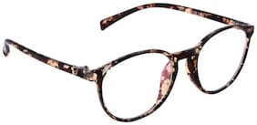 Olvin Brown Oval Full Rim Eyeglasses for Men - 1
