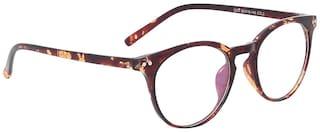 Olvin Brown Wrap around Full Rim Eyeglasses for Men