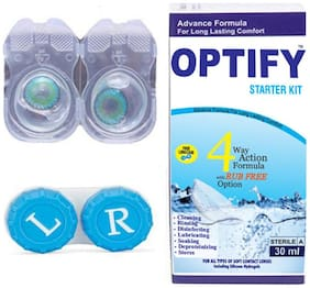 OPTIFY Clear Monthly Contact Lenses - 2 lens pack