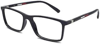 OPTIFY Blueray Block Uv Protected Bluecut Computer Glasses In Rectangle Black Frame (Medium Size) +0.50