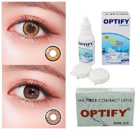 OPTIFY Hazel & Brown Monthly Contact Lenses - 2 lens pack