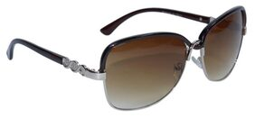 Peter Jones Brown Stylish Bug-Eye Sunglasses (RD001BW)