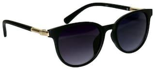 Peter Jones Eligant Black Panto Sunglasses