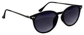 Peter Jones Black Sleek Panto Sunglasses
