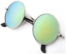 PHENOMENAL Polarized lens Round Frame Sunglasses for Men - 1 sunglass & 1 hard case plastic box