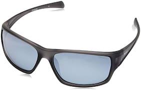 Polaroid Black Men's Wrap Around Sunglasses