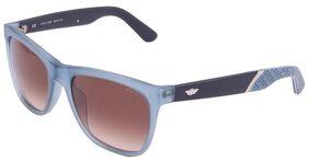 Police Unisex Blue Wayfarer Acetate Full Frame Sunglasses (Police-S1859-97DM) by HOPL
