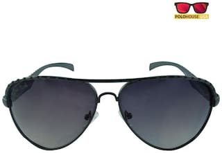 68f54cd7f21f Buy Polo House USA Men's Aviator Sunglasses Color-Black Online at ...
