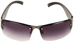 Popmode metal sheet wide leg Comfortable Men's sunglasses with frog mirror