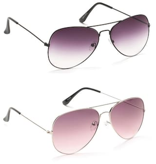 Buy Prime Club Light Purple Purple Aviator Preminum Sunglass Combo