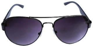 RA-Rock Men UV Protected Purple Aviators Sunglasses Medium