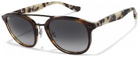 Ray-Ban Orb2183 1226/8G Size 53 Tortoise Square Uv Protected Sunglass