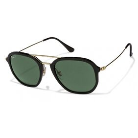 Ray-Ban Orb4273 601/9A Size 52 Black Square Sunglasses
