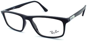 Ray-Ban Black Aviator Full Rim Eyeglasses for Men