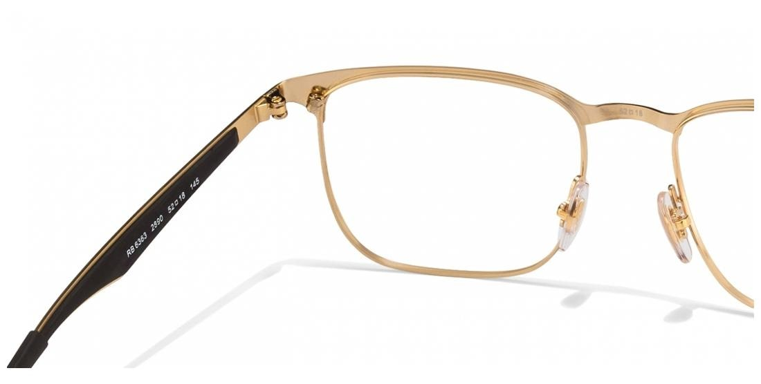 89c1349342 Buy Ray-Ban Rx6363 2890 Size 52 Black Golden Rectangle Eyeglasses Online at  Low Prices in India - Paytmmall.com