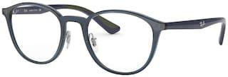 Ray-Ban Blue Round Full Rim Eyeglasses for Men - Eyeglass frame & Case