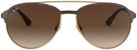 Ray-Ban Brown Aviator Large Sunglasses