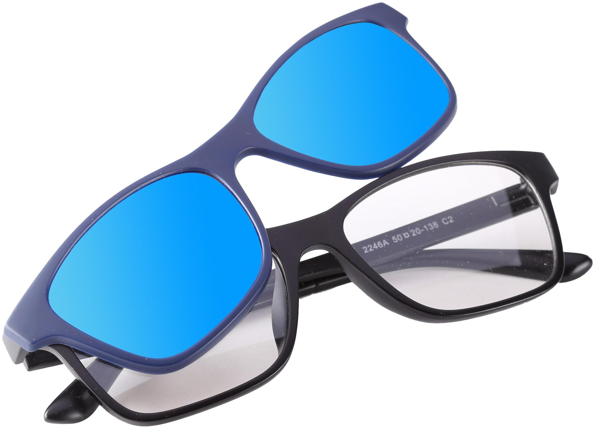 4e0229658d72e Buy REACTR- Polarised 5-in-1 Magnetic Clip on Sunglasses Plus Frame (UNISEX