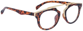 Reyda Tiger Print color Round sunglasses For Unisex (UV PROTECTION ) (MEDIUM SIZE)