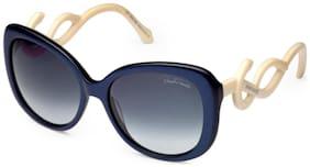 Roberto Cavali MINTAKA 911S 92B|56 Grey, Blue Cream Stylish & Elegent Women's Sunglass
