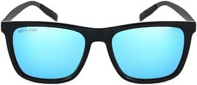 ROYAL SON Retro Square UV Protected HD Polarized Men Sunglasses- Blue Mirrored