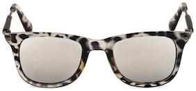 Royal Son Uv Protected Square Unisex Sunglasses (what3760|51|silver Mirrored Lens)