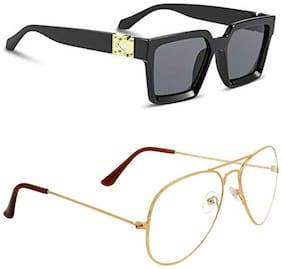 ROYALMEDE Unisex Square Sunglasses