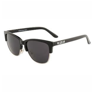 Rozior Black Men Women Sunglass with UV Protection Smoke Lens with Black Frame , MODEL: RWUKY034C1