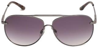 Scott Unisex UV Protected Grey Aviators Sunglasses Large