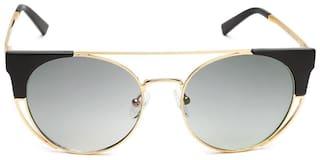 Scott Women Polarized Grey Cat-Eye Sunglasses Medium
