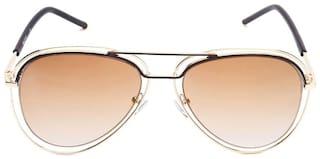 Scott Women UV Protected Brown Aviators Sunglasses Medium