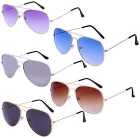 SHADZ Regular lens Aviator Sunglasses for Men , 5