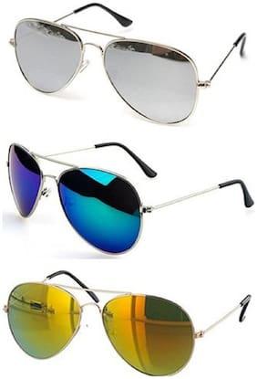 SHADZ Regular lens Aviator Sunglasses for Men , 3
