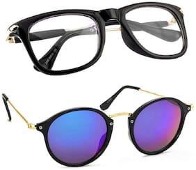 SHADZ Regular lens Round Frame Sunglasses for Men