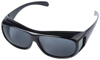 SNR Black For Day HD Vision Wrap Arounds for Safe Driving Military Glasses