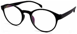 Stacle Full Rim Round Unisex Spectacle Frame (ST8002|48|Anti-Reflective Clear Lens)