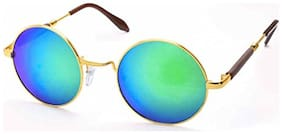 Stacle Lennon Inspired Rubber Side Temple Round Unisex Sunglasses (ST1003|51|Multiple Colours)