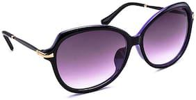 Stacle Over-sized Bug Eye Women's Sunglasses (Black/Purple Frame) -STD1546