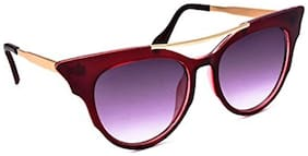 Stacle Pointed Tip Retro Cat-eye Women's Sunglasses (Maroon Frame) (STD1597)