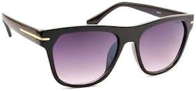 Stacle Retro Square Rectangular Unisex Sunglasses (Black Frame) (ST16103)