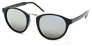 Stacle Vintage Inspired Horn Rimmed Retro Round Unisex Sunglasses (ST17206|Silver)
