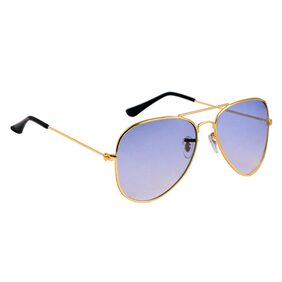 Super-X Blue Aviator Sunglasses