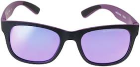 Swiss Military UV Protected Wayfarer Men's Sunglasses - (SUM52 52 Purple Color Lens)