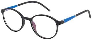 TAG EYE Black Round Full Rim Eyeglasses for Men - 1frame 1 premium cover 1 cleaning cloth 1 box