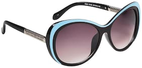 Ted Smith Blue And Black Cat-Eye Sunglasses