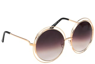 a7cf8e44c4 Buy Ted Smith Gold Round Frames Sunglasses Online at Low Prices in ...
