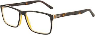 Ted Smith Black Wayfarer Full Rim Eyeglasses for Men