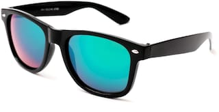7bd7b53f2 Thewhoop UV Protected Mirrored Green Wayfarer Unisex Sunglasses   Black  Frame Rectangular Mercury Goggles For Men