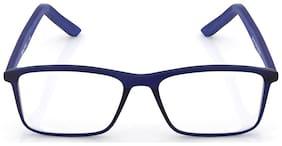 Titan Blue Rectangle Full Rim Eyeglasses for Men