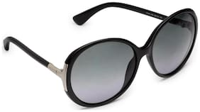Tod's 100% UV Protected Over-sized Women Sunglasses - ( TO 49 O1B|60 )